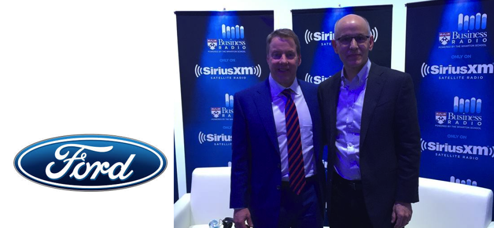 Host Dave Robertson with Ford Motors Chairman Bill Ford
